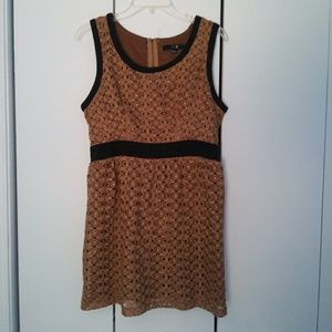 Forever 21 Gold Mini Dress